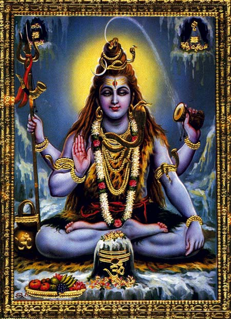 Lord Shiva with Moon and Serpent