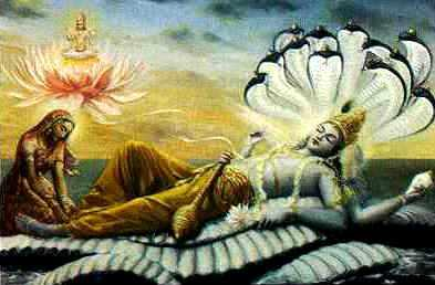 Vishnu, Lakshmi and Serpent on the Ocean of Milk